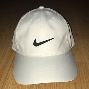 Women's White Nike Golf Hat with Black Logo